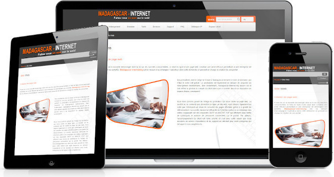refonte site web Madagascar internet